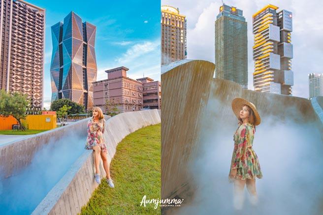 泰國網紅Aumjumma臉書分享高雄旅遊美照,網友大讚「美呆了」。圖為「集盒」。(擷取Aumjumma臉書/柯宗緯高雄傳真)