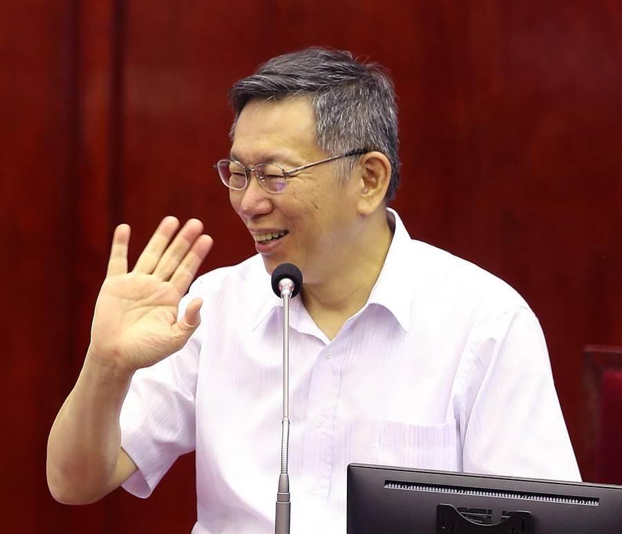台北市長柯文哲(見圖)反駁賴帳說,楊蕙如約直播對質。(資料照片)