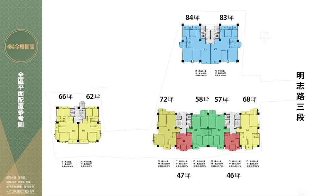 金璽御品標準層平面圖