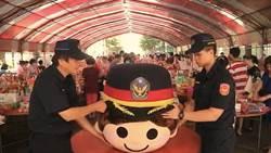 中元普渡「尬」大頭娃娃  龍潭警拍路口宣導短片「笑果」十足