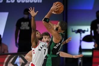 NBA》塔圖史馬特聯手 綠衫軍逆斬暴龍2比0