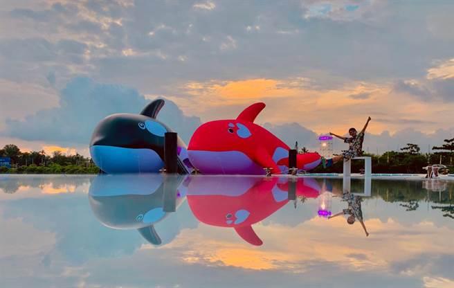 黃子佼日前於台南安平港舉辦《彩蛋鯨喜演唱會》。安平虎鯨ORCA GO!提供