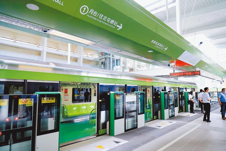 台中捷運綠線將於年底通車,延伸案已修正並送中央,市府呼籲儘速核定。(交通局提供/林欣儀台中傳真)