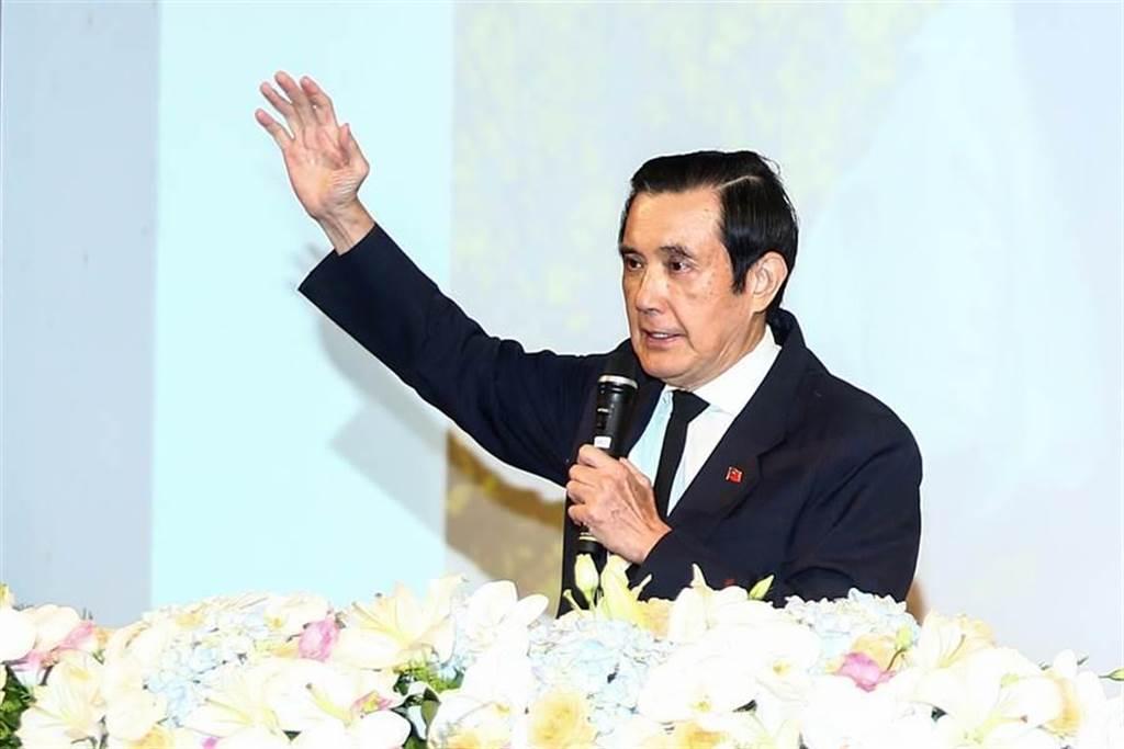 前總統馬英九3日出席「王曉波教授追思紀念會」。(鄧博仁攝)