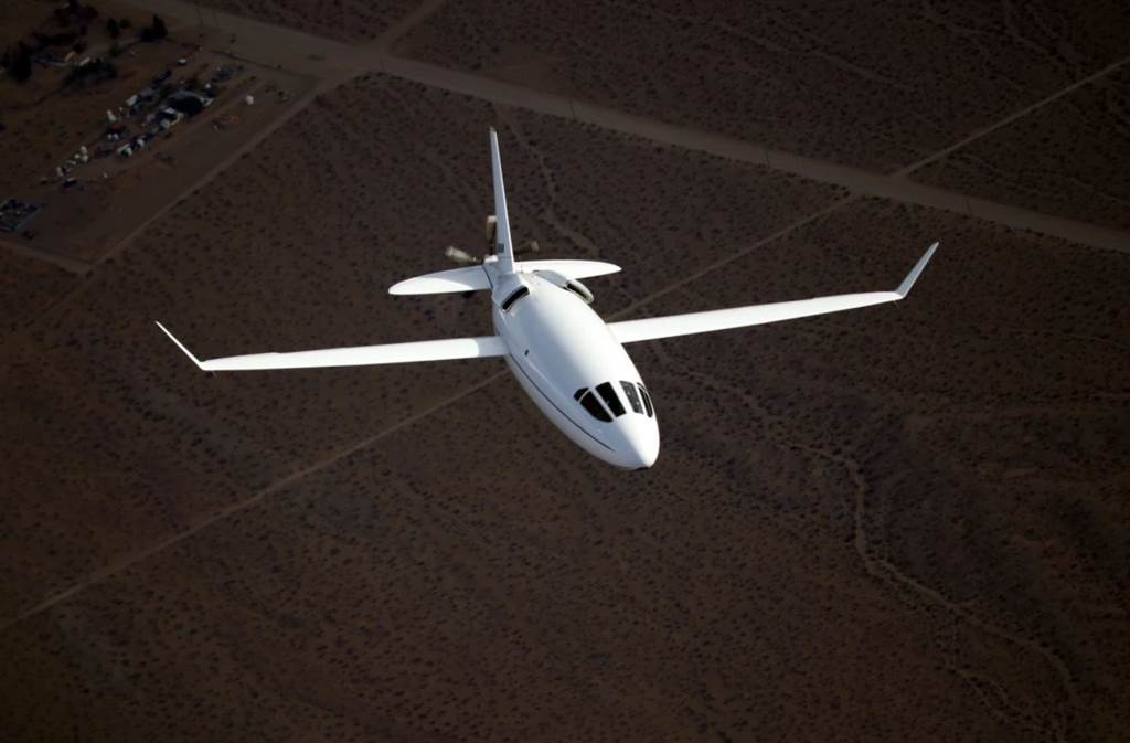 長相特別的賽雷拉500L(Celera 500L)飛機,外型如同子彈。(圖/Otto Aviation)