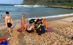 大武崙沙灘戲水突昏倒 42歲男遊客送醫急救