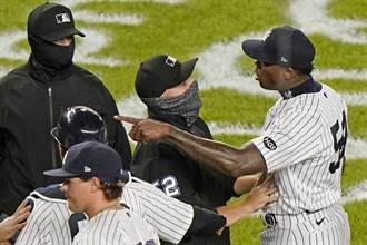 MLB》投危險球 洋基隊查普曼禁賽3場加罰款