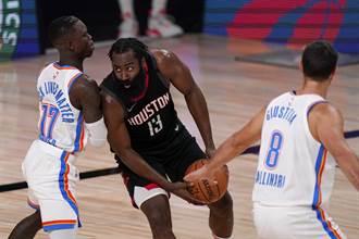 NBA》哈登關鍵火鍋 火箭搶7險退雷霆晉級