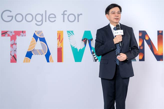 Google 台灣董事總經理馬大康分享 Google 智慧台灣計劃 「轉型」各方案內容。(Google提供/黃慧雯台北傳真)