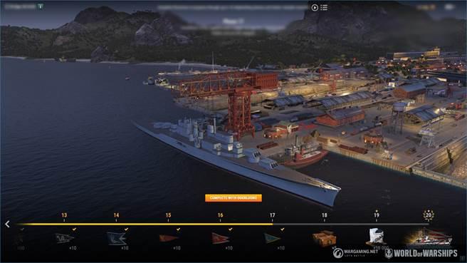 0.9.8 版本更新中,玩家可以於新船塢建造美國 VIII階 Anchorage