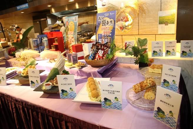 台東桂田酒店設計各式鬼頭刀菜單料理。(台東縣政府提供/蔡旻妤台東傳真)
