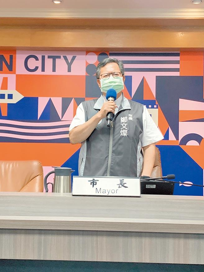 桃園市長鄭文燦2日主持市政會議時宣布明年編列的總預算創新高約為1387億,多今年158億。(姜霏攝)