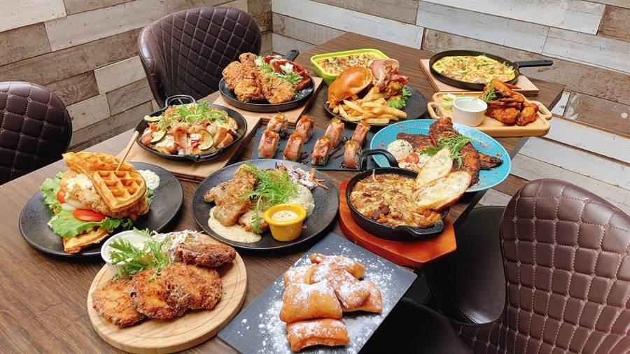 ABV第五間店美式餐酒館開幕,店裡供應很美國的美國的味道。(圖/邱映慈攝影)