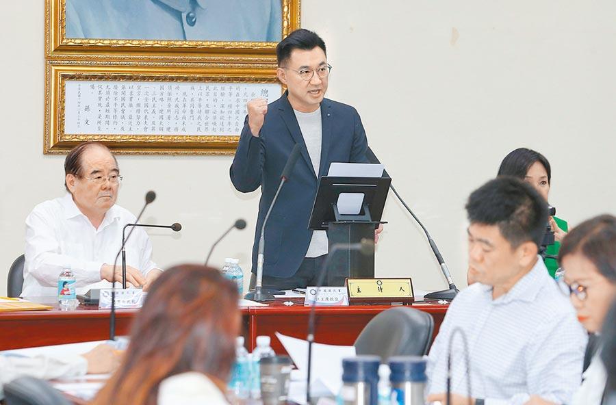 國民黨中央委員行使不分區立委名單同意權,從過去採負面表述(不同意票過半)改為正面表述(同意票過半)。(王英豪攝)