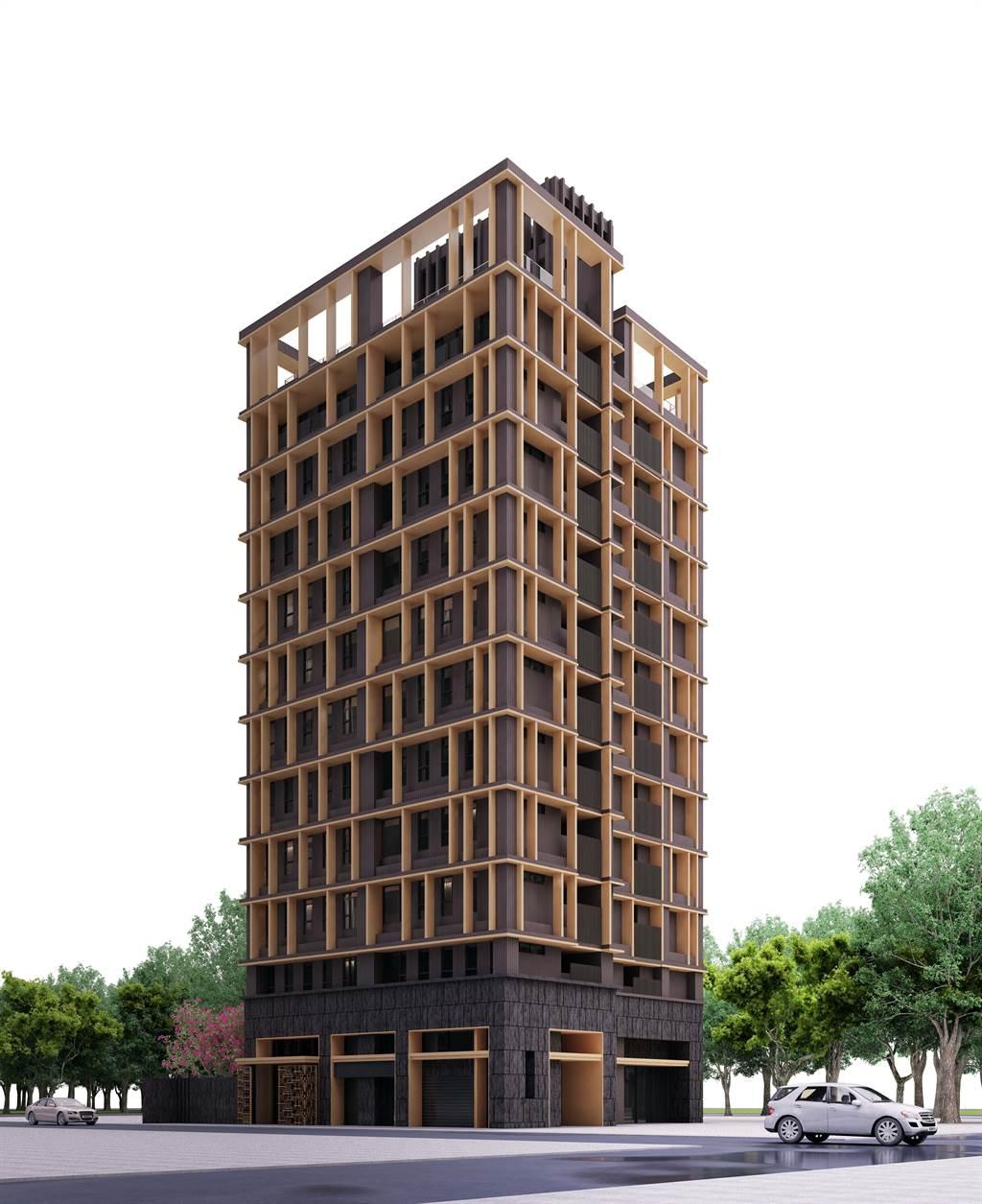 「淺草棧」(淺草棧3D立面示意圖)規劃地上11層、地下3 層的建築,發揮每一吋可以使用的空間。