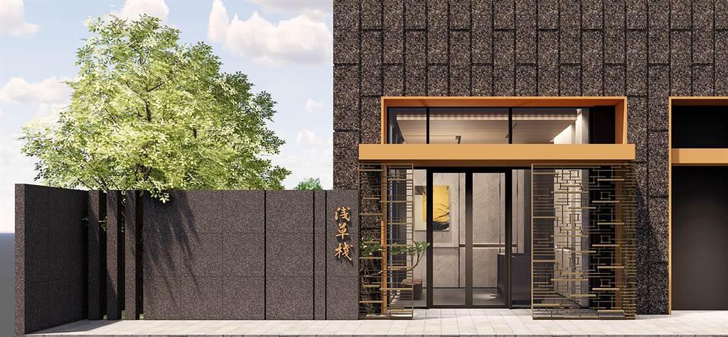 「淺草棧」精緻規劃高機能性的建築(1樓門廳示意圖)