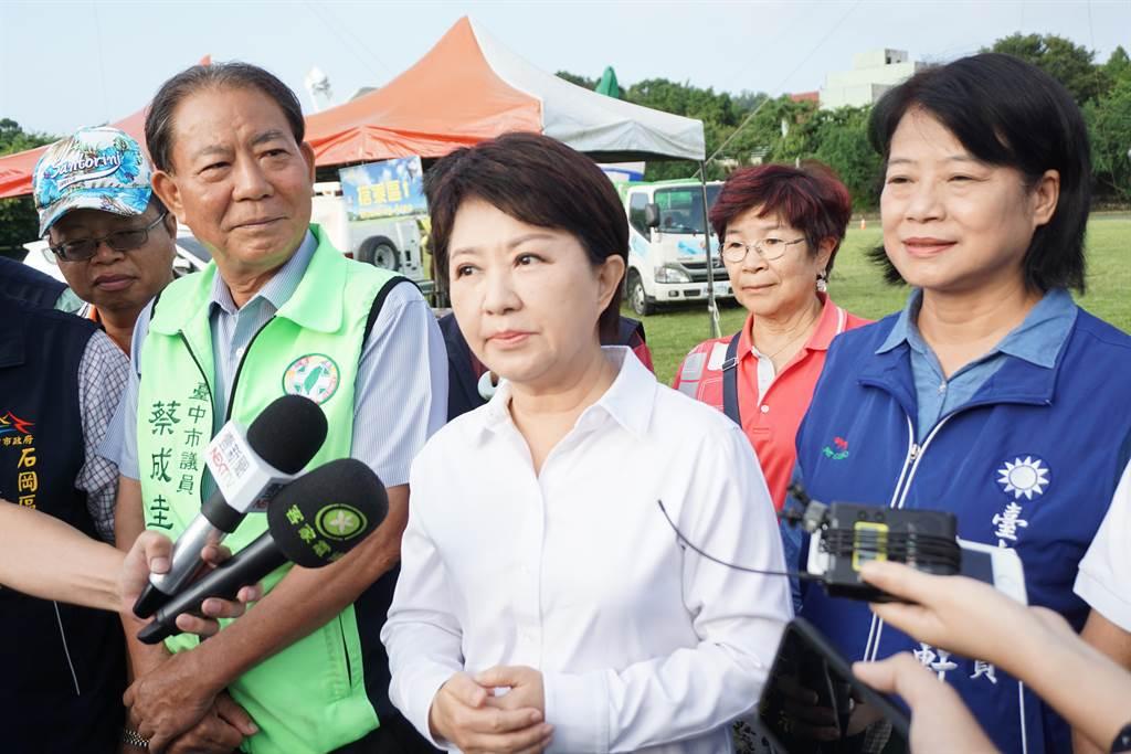 針對美豬進口,國民黨發起食安公投,台中市長盧秀燕也呼籲中央政府懸崖勒馬。(王文吉攝)