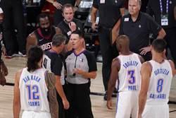 NBA》雷霆2分飲恨 保羅抱怨裁判不公