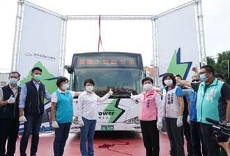 台中市電動公車全國最多 盧秀燕揭新塗裝拚任內倍增