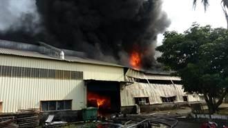 岡山橡膠工廠大火 火勢撲滅無人受傷