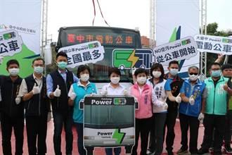 盧秀燕任內將力拚電動公車數量倍增至290輛