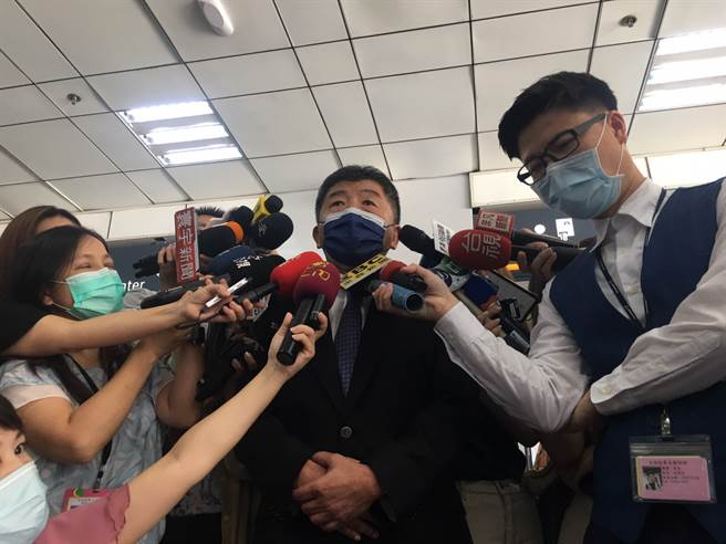 加利混充陸製口罩,陳時中:破壞防疫信心造成人民恐慌。(林周義攝)