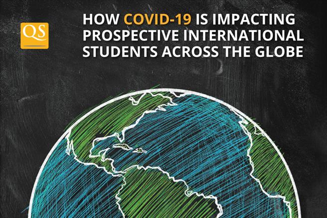新冠肺炎對留學生的留學計畫影響甚鉅。(圖片取自QS報告)