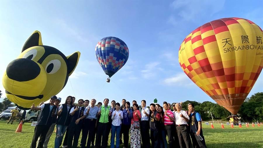 台中石岡首辦熱氣球嘉年華 盧秀燕搶先體驗大讚好玩 - 寶島