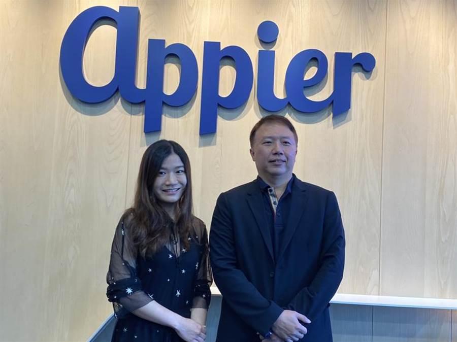 (草莓網執行長楊俊元(右)與Appier成長策略暨行銷部副總黃琬珺(左)。圖/劉季清攝)