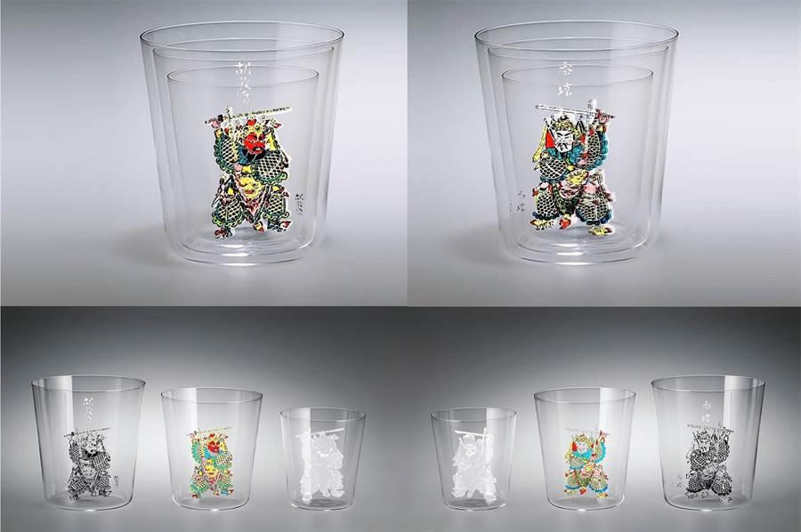 門神套杯有版畫效果亦有「交陪」溫情。(史博館提供)