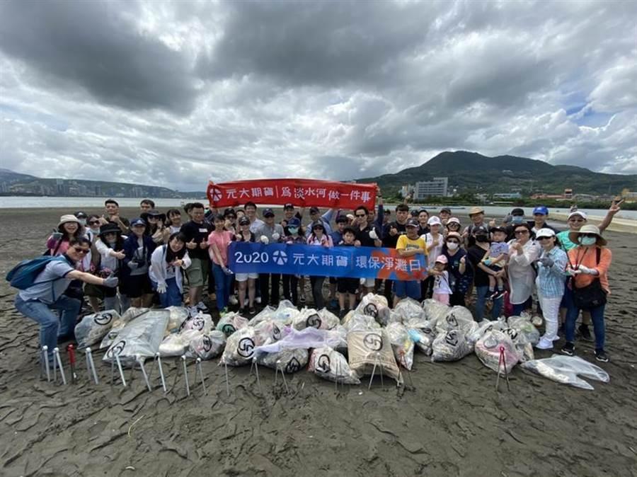 元大期貨於8月22日進行淨川公益活動,為企業社會責任盡一份心力。(圖/元大期貨)
