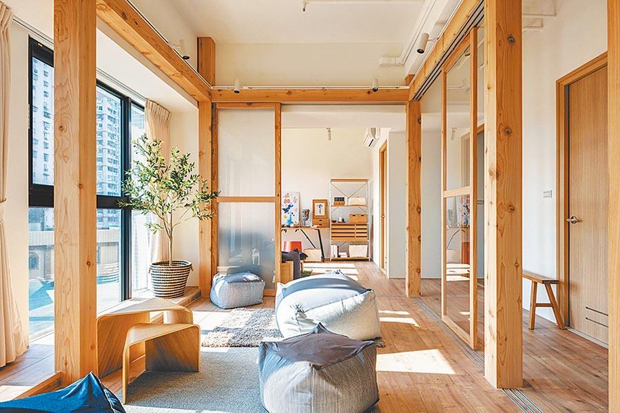 土城捷運海山站「長群享享CITY」高質感39坪空間實品屋,打造無印風格新型態工作室。圖/業者提供