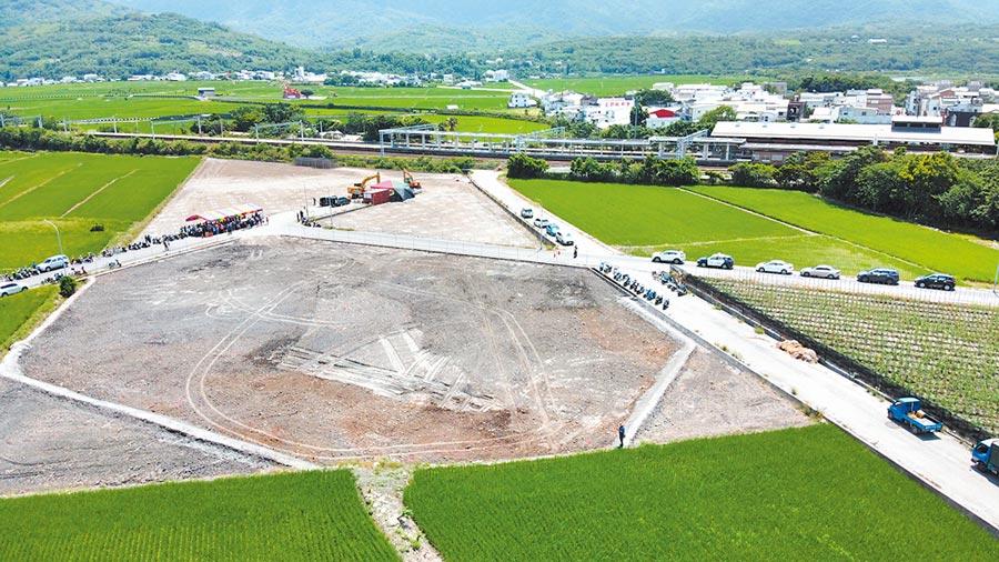 農委會強調,用地變更一定要徵得地主同意才能進行。圖為私人建地將設太陽能光電設施,已完成整地。(民眾提供)