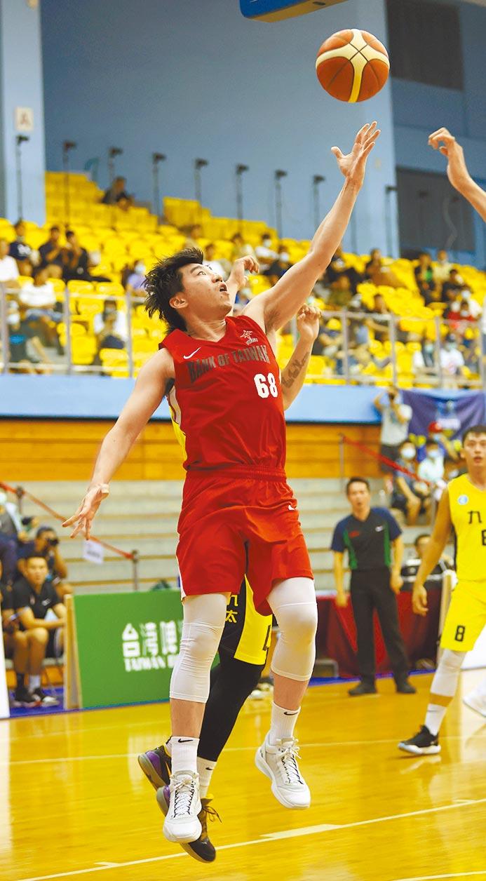 台銀後衛張博勝昨天攻下全隊最高20分,幫助球隊狂掃九太。(中華籃協提供)