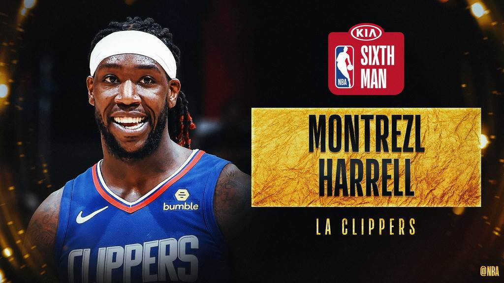 快艇前鋒哈瑞爾獲選本季年度第六人。(取自NBA官推)