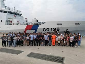 獨特的成年禮 北市大安區登上海巡艦率領學子向海致敬
