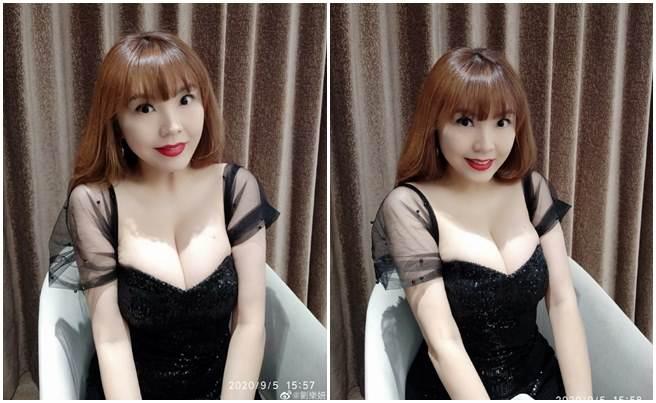 劉樂妍難得秀出H級胸器,陸網友全暴動了。(取自劉樂妍微博)