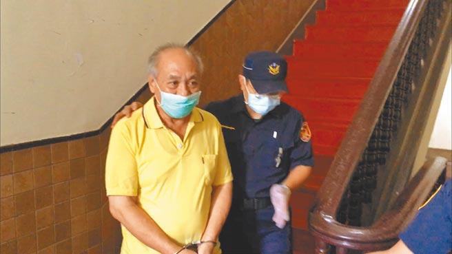 前台北縣新莊分局刑事組長羅明村涉收賄遭判刑13年定讞,他逃亡越南後,今年6月返台投案,已到宜蘭監獄執行。(林偉信攝)