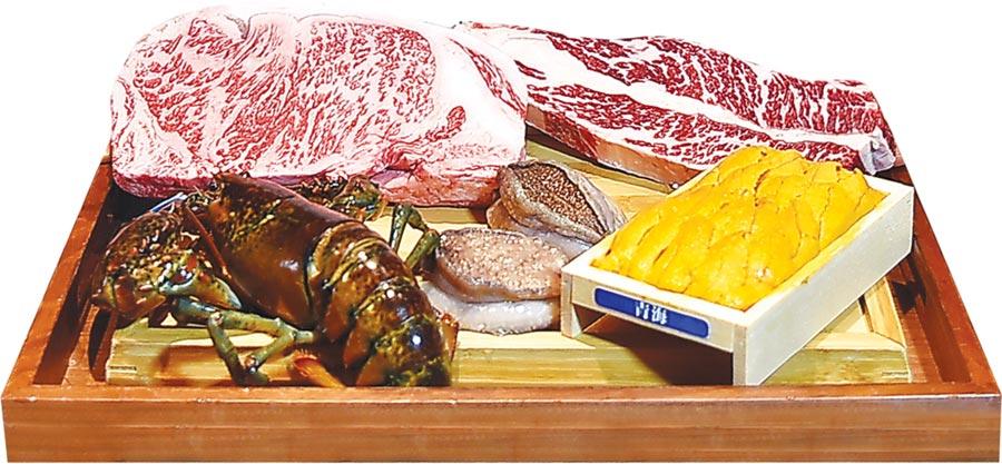 ˙〈犇USHIMITSU和牛館〉搶進平價精品美食市場,以和牛、鮑魚和龍蝦等高檔食材推出高性價比超值套餐,12道菜式1,380元。圖/姚舜