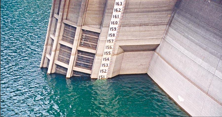 翡翠水庫目前蓄水量都不及5成。日前跌破歷年水位平均值。(翡翠水庫管理局提供/張薷台北傳真)