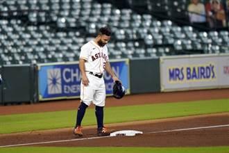 MLB》太空人阿土伯打擊低迷 進10天傷兵