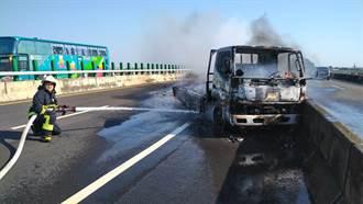 台61線東石段貨車火燒車 車上3人驚險逃生
