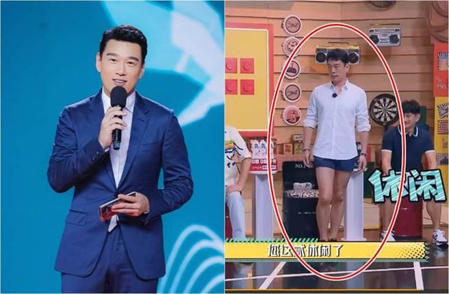 王耀慶穿著超短褲登上陸綜《元氣滿滿的哥哥》,不只逗樂全場,微博還以「王耀慶的休閒短褲未免也太短了」登上熱搜榜冠軍。(圖/取材自王耀慶工作室、元氣滿滿的哥哥微博)
