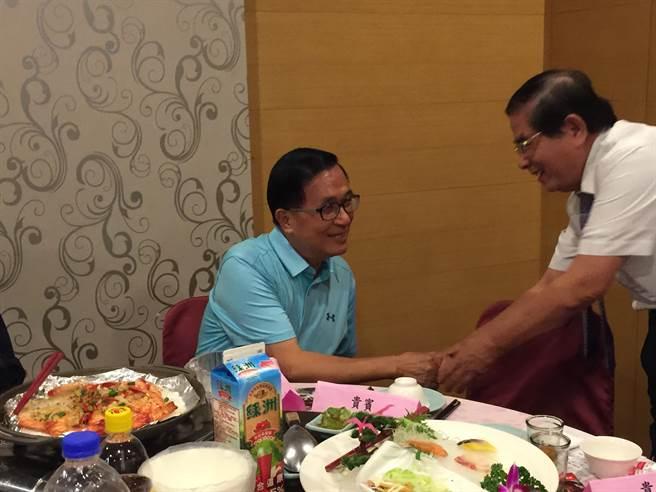 前總統陳水扁受邀出席908台灣國感恩餐會。(馮惠宜攝)
