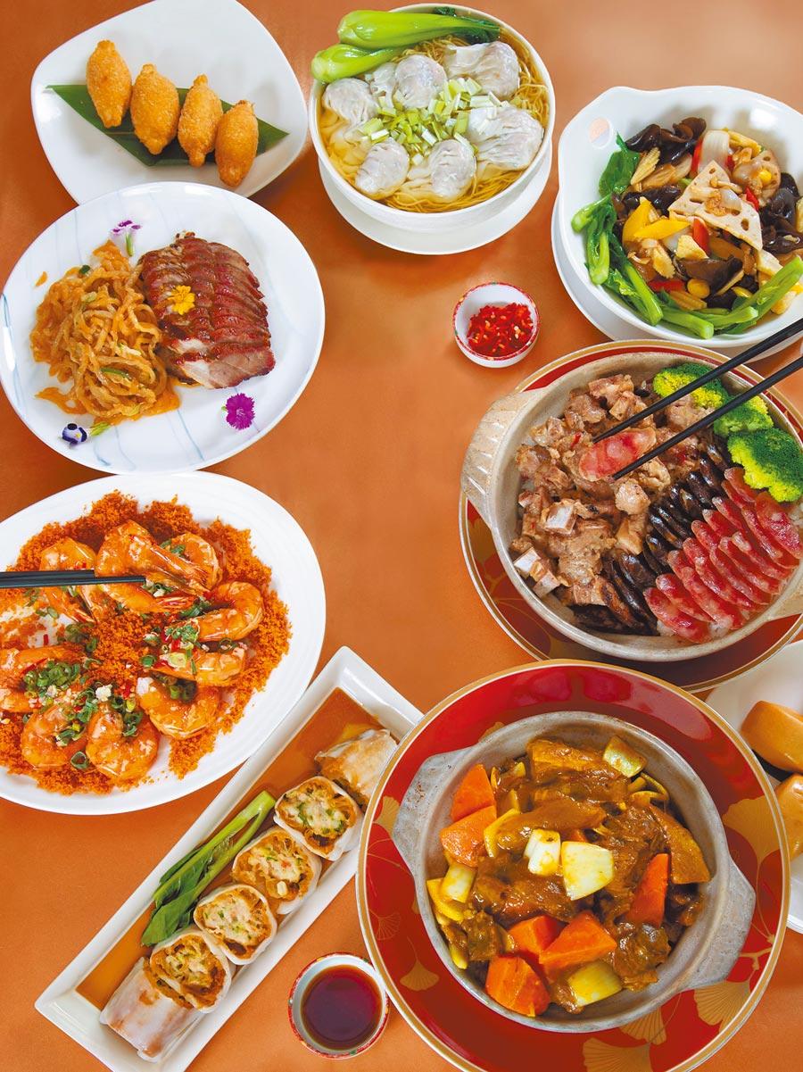 桃花林中華料理的「港廚經典好味道」套餐色香味俱全。(大倉久和大飯店提供)