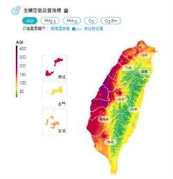 西半部空氣品質一片紅 臭氧累積惹禍估10日改善