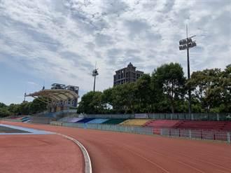龍潭運動公園斥資千萬 翻新照明、田徑場地坪