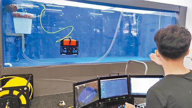 水下搜救機器人。(趙鵬攝)