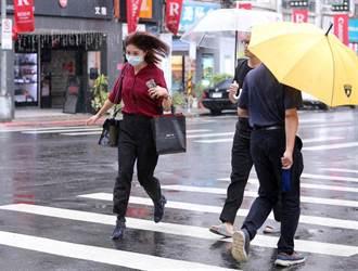 午後暴雨開炸 氣象局發布6縣市大雨特報