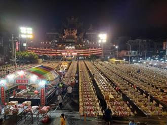 清水紫雲巖中元普渡 近2000桌供品十分壯觀